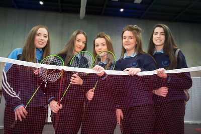20/01/2017.  Waterford Institute of Technology (WIT) open day at WIT Arena. Pictured are Megan White, Heather Kelly, Katie Drohan, Laura Cullen and Rachel Whitty from Ramsgrange Community School. Picture: Patrick Browne