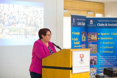 WIT holds event to honour 2016 All Ireland medal winning students. Pictured is the Camogie Association Catherine Neary. Picture: Patrick Browne  Waterford Institute of Technology's presence and influence across Gaelic Games at a national level in 2016 has been very noticeable. In total there are 32 past and present WIT students on the respective playing panels that won All Ireland medals in 2016 and a further 4 members on the backroom management teams.   To honour this huge achievement, WIT GAA Club is paying tribute to these 36 past members on securing these prestigious national titles on Monday 3 October, 6.30pm at the WIT Arena.   Along with the players, the prestigious cups, including the All Ireland Senior Hurling Cup- Liam McCarthy, the All Ireland Senior Camogie Cup- O'Duffy, The All Ireland Minor Cup and the All Ireland Under 21 Hurling Cup- James Nowlan, will be on show on the night.