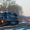 Pan Am's only blue C-40-8 is turned on the wye at Greenfield late in the afternoon of January 26, 2018.
