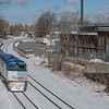 Amtrak Downeaster 690 passes throught Somerville Jct on Lowell line.