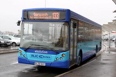 WJC Coaches Chapelhall WJ08BUS The Glasgow Fort 1 Mar 10