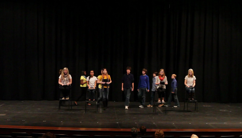 WJHS Forensics performance of Beauty and The Beast at FHS Forensics Tournament 3/8/2013