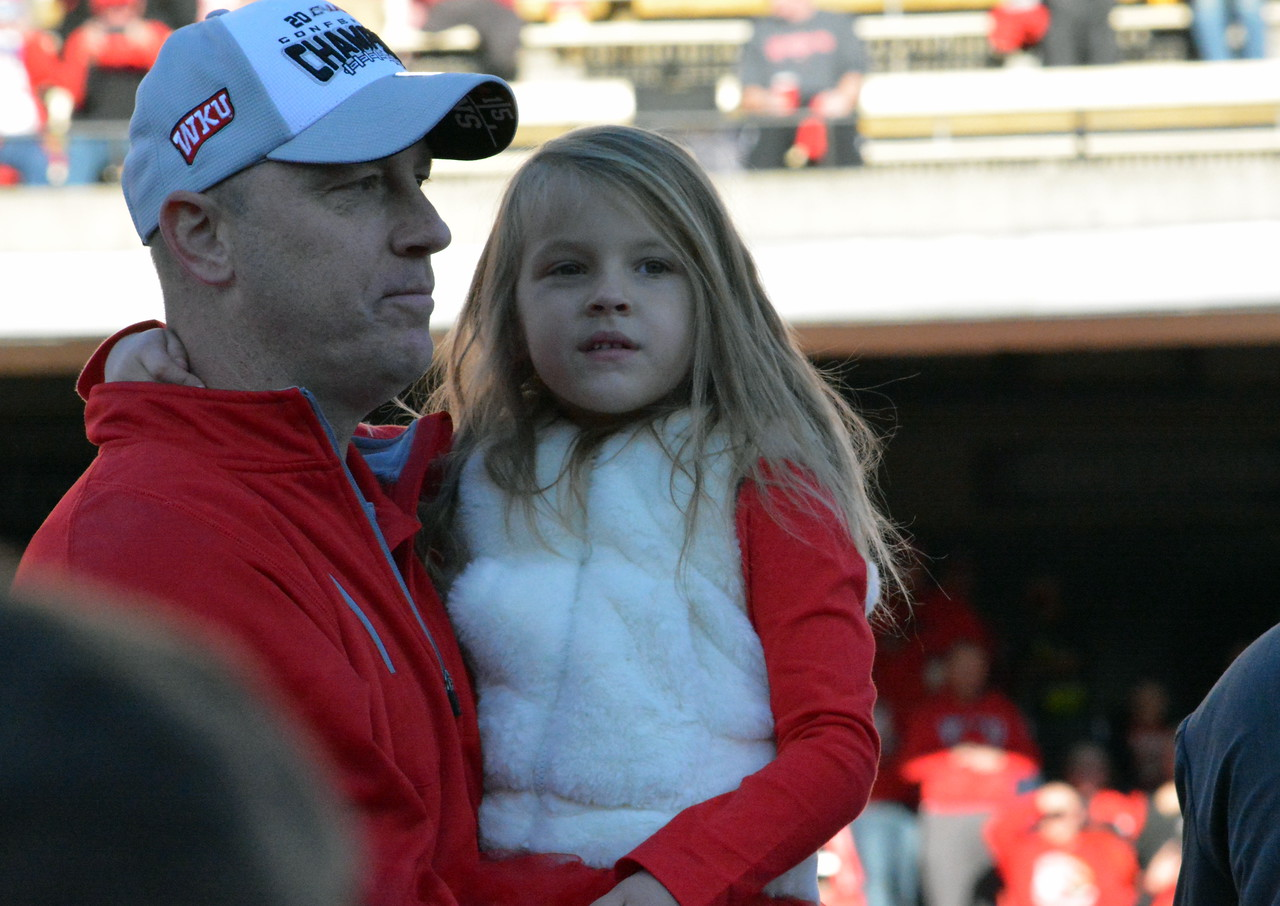 Brohm with daughter