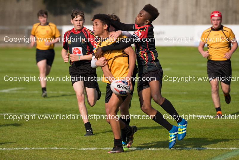 """Year 10 Wigan and Leigh Champion Schools Final 2016, St Peter's v St John Fisher, Edge Hall Road, Orrell, Friday 27th May 2016.  Picture by  <a href=""""http://www.nickfairhurstphotographer.com"""">http://www.nickfairhurstphotographer.com</a>"""