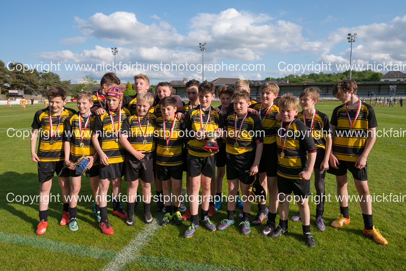 "Year 7 Wigan and Leigh Champion Schools Final 2016, St John Fisher v St Peter's, Edge Hall Road, Orrell, Tuesday 24th May 2016:  St Peter's.  Picture by  <a href=""http://www.nickfairhurstphotographer.com"">http://www.nickfairhurstphotographer.com</a>"