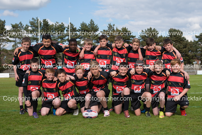 "Year 7 Wigan and Leigh Champion Schools Final 2016, St John Fisher v St Peter's, Edge Hall Road, Orrell, Tuesday 24th May 2016:  St John Fisher.  Picture by  <a href=""http://www.nickfairhurstphotographer.com"">http://www.nickfairhurstphotographer.com</a>"