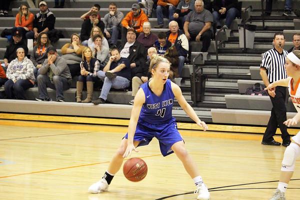 WL girls' basketball at Sheldon 11-21-17