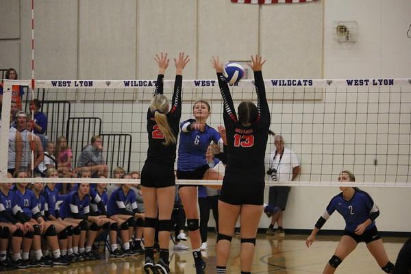 WL volleyball versus George-Little Rock 9-13-18