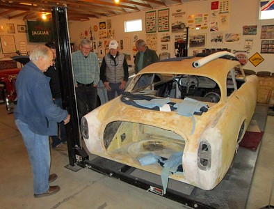 Touring the Jennings Car Barn after the talk.