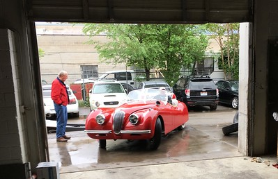 Our Guinea Pig was Barry Hanover's 1951 Jaguar XK120 Open Two Seater.  Just the day before Barry finally cured ignition gremlins that had plagued him for two years - all due to a bad coil.