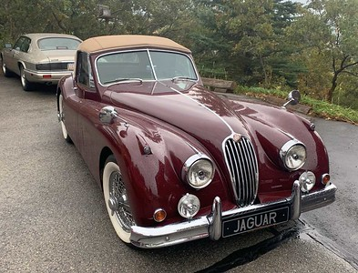 Gary's XK140, which was his late wife Sandy's car. (She let him restore and drive it.)