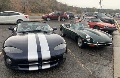 Viper, E-type, XJS V12 in foreground.