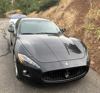 An even later arrival was Jim and Hermione Klekas in their Maserati.