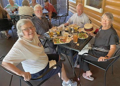 Betty and Bud Merritt and Lee and Judy Taylor.