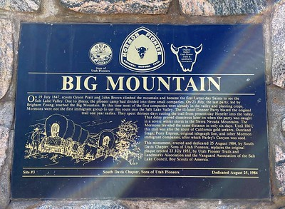 We stopped at the Big Mountain Summit between Emigration and East Canyon.