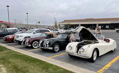 We stopped for a gain and drain at Foxglove Shopping Center in Farmington. Here are the three XK1x0's on the trip.