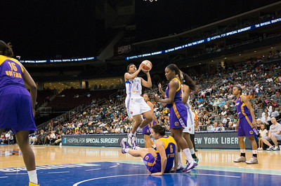 WNBA 2013 - The Los Angeles Sparks visit the New York Liberty