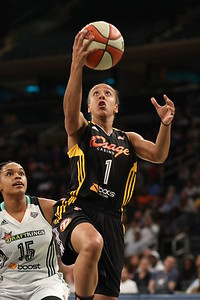 WNBA 2015 - The Tulsa Shock Visit the New York Liberty