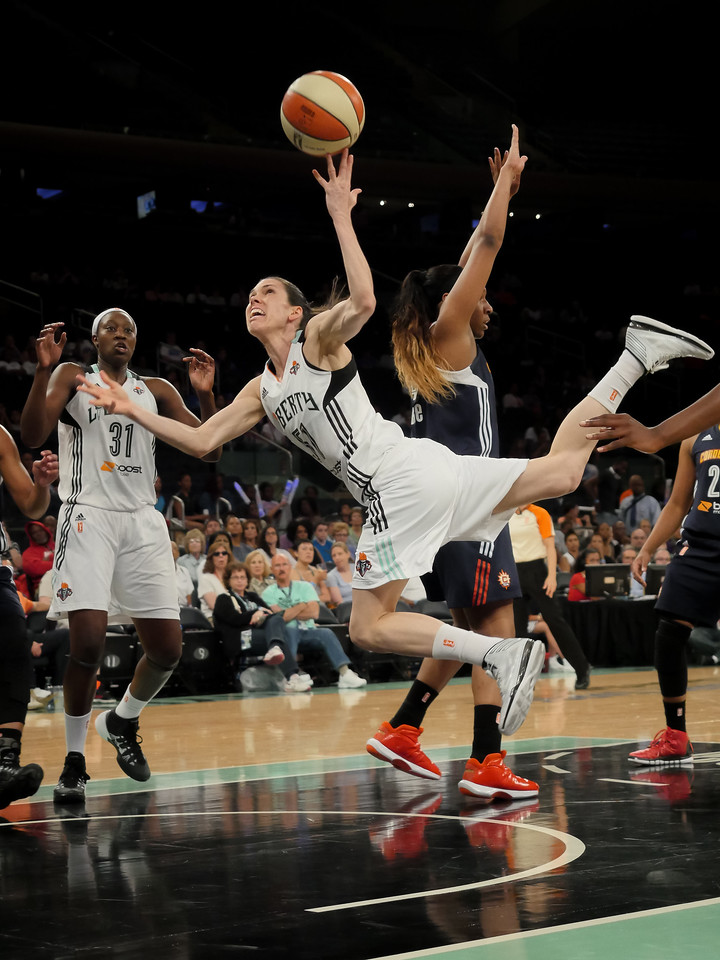 WNBA 2014 - The Connecticut  Sun Visit the New York Liberty
