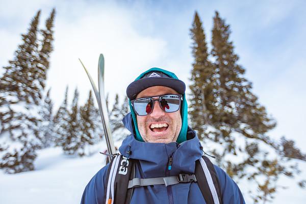 Joey Weamer portrait on Teton Pass. Checkerspot Road Trip.