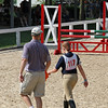 Show jumping course walk - Ingrid and dad