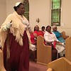 "Richard Payerchin - The Morning Journal <br> Inez James portrays abolitionist Sojourner Truth as she speaks at the Wesley United Methodist Church Annual Women's Day Program on July 16, 2017, at the church, 220 W. Seventh St., Lorain. James was one of three keynote speakers addressing the theme: ""The Leadership & Vision of Women, Past, Present & Future."""