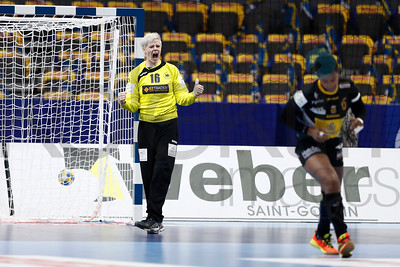 Klara Woltering (16) and Nely Carla Alberto (6) during their Women's European Handball Championship group I main round game Spain - Germany in Gothenburg / Göteborg December 12, 2016.