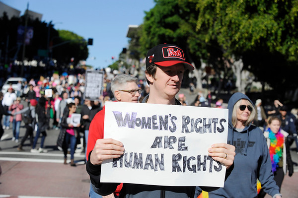 WOMEN'S  MARCH-LOS ANGELES TOOK PLACE ON JANUARY 21, 2017. THE MARCH STARTED AT PERSHING SQUARE AND ENDING AT CITY HALL. PHOTOS BY VALERIE GOODLOE