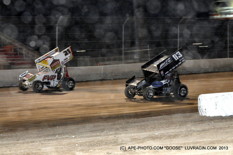 yep some dust oh this is a dirt track racing !!!