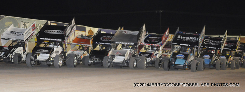 FOUR WIDE, STEVE KINSER ON THE POINT