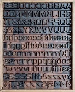 Wood type inspired to Eurostile