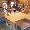 """Jim had a great table and saw setup.   A 10"""" Delta unisaw in the far corner and a 14 incher in this corner.           My wood working Mentor and great friend, Jim Shearer, Who passed on in August of '17.   I miss ya, bud."""
