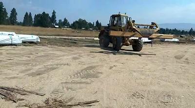 Getting cedar Logs from Montana Custom Homes