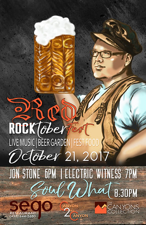 CUSTOM RED ROCKTOBERFEST POSTER DESIGN