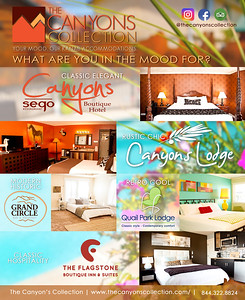 THE CANYON'S COLLECTION FLYER DESIGN FOR PRINT