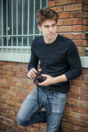 Keegan Allen holds the Leica M Monochrom rangefinder he waited two years for.