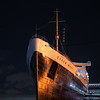 The Queen Mary ship,  lunar eclipse