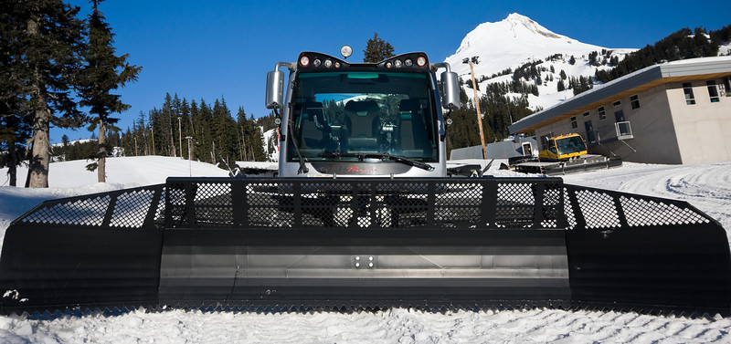 Full-frontal intensity.<br /> <br /> A brand-new Prinoth Beast came to visit our little ski area.<br /> <br /> Location: Behind the vehicle shop, Mt. Hood Meadows ski area, Oregon<br /> <br /> Lens used: 10-22mm f3.5-4.5