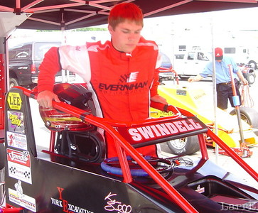 Kevin Swindell with the #25 USAC midget is from Germantown, Tennessee