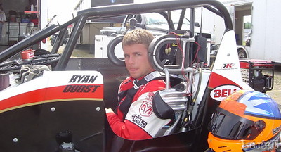 Ryan Durst, Lincoln Nebraska, drives the Kasey Kahne midget #91