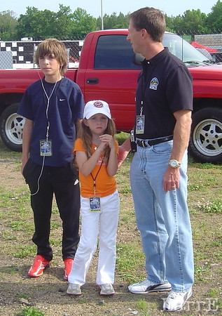 John Andretti and family enjoy a day at the races