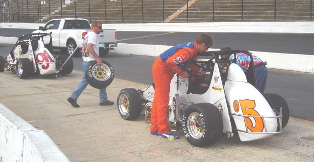 #91 Dave Steele's car (Tampa, Fl) and # 05 Brad Loyet (Sunset Hills, Mo)