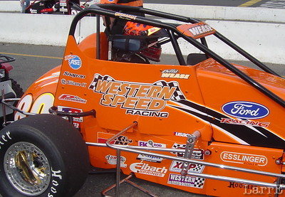 Billy Wease in the # 80 USAC midget