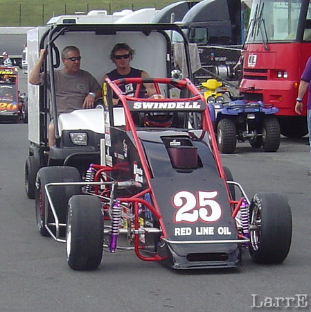 Kevin Swindell is pushed off