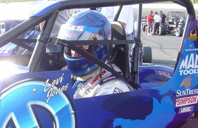 driving the Tony Stewart Mopar sprintcar is #21 Levi Jones