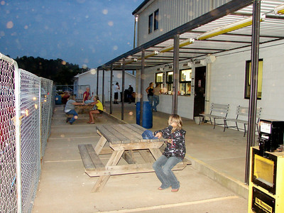 patio area in back of the concession stand