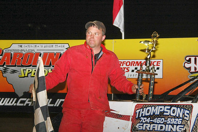 Andy Thompson  winner of street stock feature