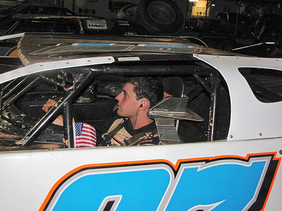 drivers all had American flags with them