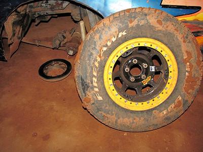 wheel still has the studs in it