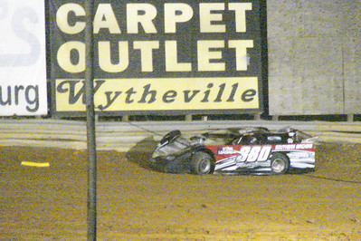 Craig Shuffield hit the turn four wall